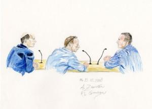 Hans J. en rechts Peter M. (tekening Annet Zuurveen)