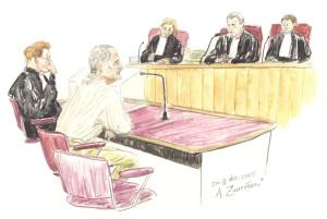Karel van O. voor de rechtbank (Tekening: Annet Zuurveen)