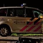 Een politiewagen werd doorzeefd